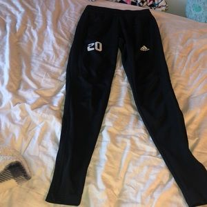Adidas black soccer joggers